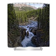 Upper Sunwapta Falls - Canadian Rockies Shower Curtain