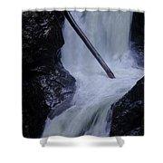Upper Twin Falls Close Shower Curtain