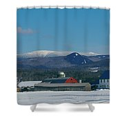 Upper Valley Farm Shower Curtain