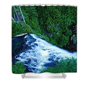 Upper View Of Narada Falls Shower Curtain