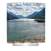 Upper Waterton Lake Shower Curtain