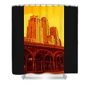 Upper West Side And Hudson River Manhattan Shower Curtain