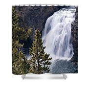 Upper Yellowstone Falls Shower Curtain