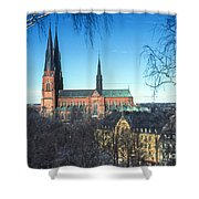 Uppsala Cathedral Shower Curtain