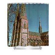 Uppsala Cathedral Spires  Shower Curtain