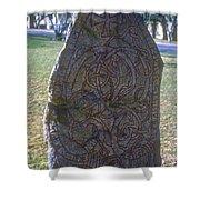 Uppsala Runestone Shower Curtain