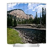 Upriver In Washake Wilderness Shower Curtain