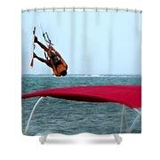Upside Down World  Shower Curtain
