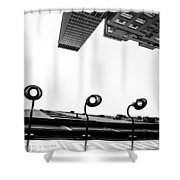 Upside Of Lexington Shower Curtain
