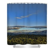Upslope Flow Shower Curtain