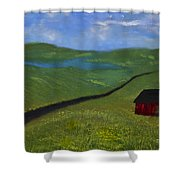 Upstate Lakes Region Shower Curtain