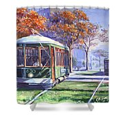 Streetcars Uptown New Orleans Shower Curtain