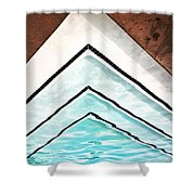 Upward Pool Palm Springs Shower Curtain