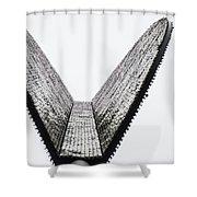 Upward Wedge Shower Curtain