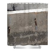 Urban Abstract Construction 4 Shower Curtain