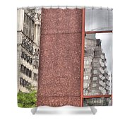 Urban Abstract Downtown Reflections Dayton Ohio Shower Curtain