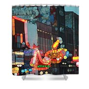 Urban Abstract Nashville Neon Shower Curtain by Dan Sproul