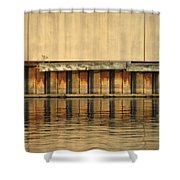 Urban Abstract River Reflections Shower Curtain