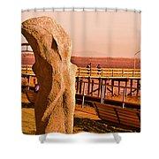 Urban Abstract Sculpture Shower Curtain