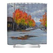 Urban Autumn Shower Curtain