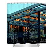 Urban Blue Shower Curtain