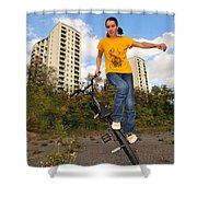 Urban Bmx Flatland With Monika Hinz Shower Curtain