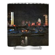 Urban Boston Skyline Shower Curtain