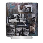 Urban Decay Engagement Collage Shower Curtain by Anita Burgermeister
