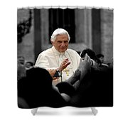 Urban Roman Street With Pope Shower Curtain