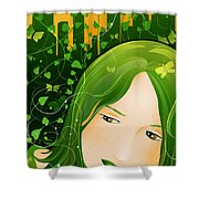 Urban Rosebudd Shower Curtain by Sandra Hoefer