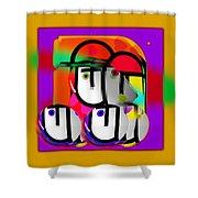 Urban Spaceman Shower Curtain by Charles Stuart
