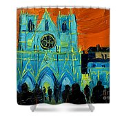 Urban Story - The Festival Of Lights In Lyon Shower Curtain
