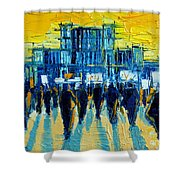 Urban Story - The Romanian Revolution Shower Curtain