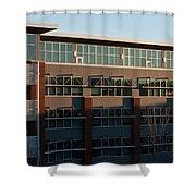 Urban Sunrise Glow Shower Curtain