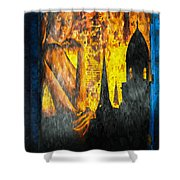Urban Sunset Shower Curtain by Bob Orsillo
