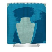 Urn On Canvas Shower Curtain