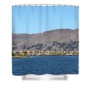 Uros Floating Island Village Shower Curtain