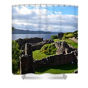 Urquhart Castle Ruins Shower Curtain