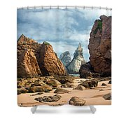 Ursa Beach Rocks Shower Curtain