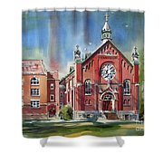 Ursuline Academy With Doves Shower Curtain