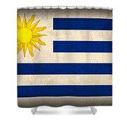 Uruguay Flag Vintage Distressed Finish Shower Curtain