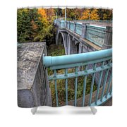 Us 62 At Mill Creek Park In Fall Shower Curtain