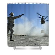 U.s. Air Force Master Sergeant Guides Shower Curtain