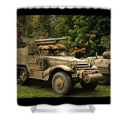 Us Armor Shower Curtain