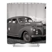 Us Army Dodge Staff Car Shower Curtain