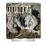 U.s. Army Europe Soldiers Perform Shower Curtain