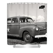 Us Army Ford Staff Car  Shower Curtain