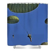U.s. Army Paratroopers Participate Shower Curtain