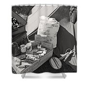 Us Army Rations Shower Curtain