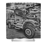 Us Army Troop Carrier Shower Curtain